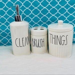💫 Rae Dunn Bathroom Set 3 Items